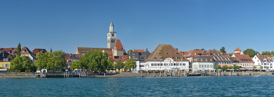 Promenade with minster and Greth seen from the water, Ueberlingen, Lake Constance, Germany - SH02191