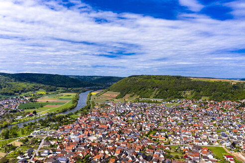 View of Kleinheubach and Grossheubach, Bavaria, Germany - AMF07047