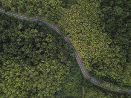 Aerial view of a road in mountains, West Sumbawa, Indonesia - KNTF02795