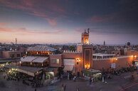 Crowd at night in Jamaa el Fna Square, Marrakesh, Morocco, - BLEF04685