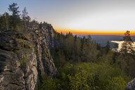 Sunset over mountain rocks - BLEF04736