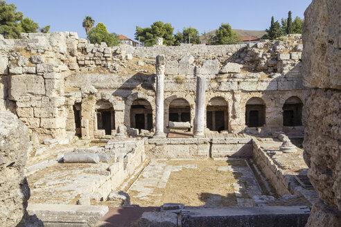 Peirene Brunnen, archäologische Ausgrabungsstätte, antikes Korinth, Argolis, Peloponnes, Griechenland - MAMF00702