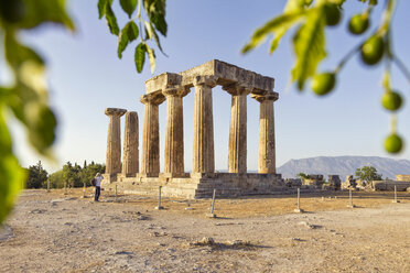 Archaic Temple of Apollo, Dorian columns, Corinth, Greece - MAMF00711