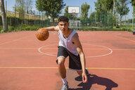 Young man playing basketball - MGIF00502