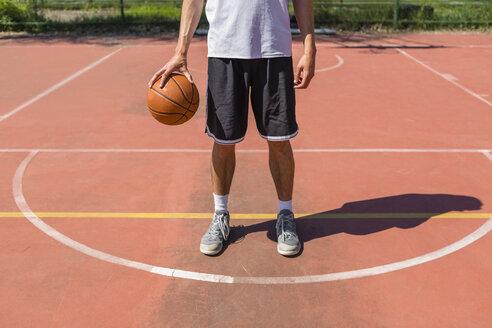 Young man playing basketball - MGIF00511