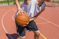 Young man playing basketball - MGIF00514