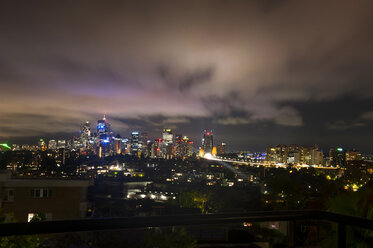 Skyline of Sydney at night, New South Wales, Australia - RUNF02220