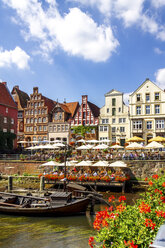 Gable houses and half-timbered houses at Stint market, Lueneburg, Germany - PUF01560