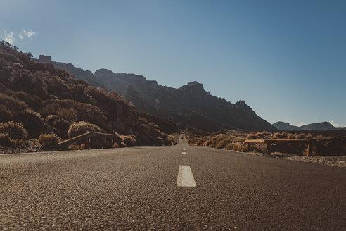 Empty road in Teide National Park, Tenerife, Spain - CHPF00535