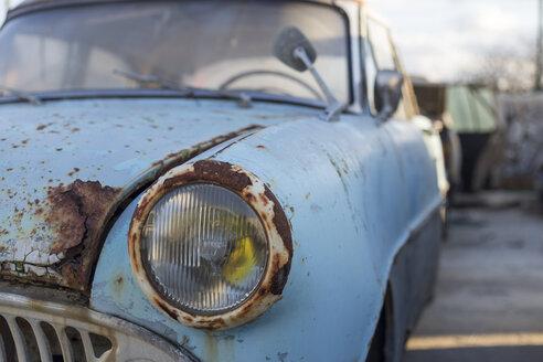 Rusty car in a scrapyard - JPTF00079