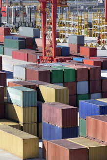 Cargo containers at commercial dock - JUIF01068