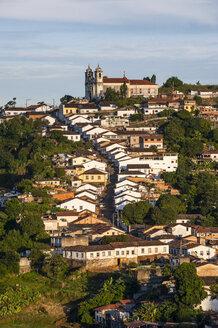 View of the colonial town of Ouro Preto, Minas Gerais, Brazil - RUNF02335