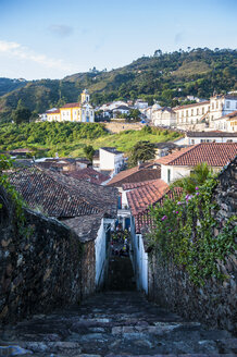 View of the colonial town of Ouro Preto, Minas Gerais, Brazil - RUNF02338