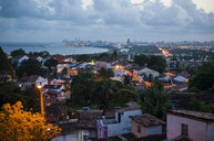 Overlook at sunset over the colonial town of Olinda with Recife in the background, Pernambuco, Brazil - RUNF02362