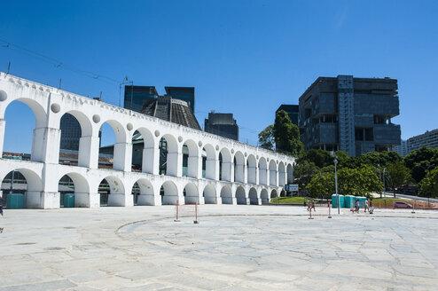Arcos da Lapa or Carioca Aqueduct in Lapa, Rio de Janeiro, Brazil - RUNF02372