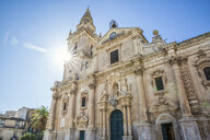 San Giovanni Cathedral in backlight, Ragusa, Sicily, Italy - MAMF00734