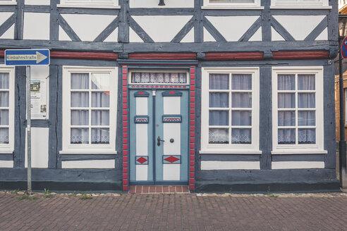 Front of a half-timbered house, Hitzacker, Lower Saxony, Germany - KEBF01239