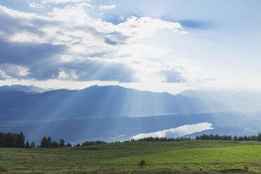 View of Millstatt Lake, Lammersdorf Mountain, Nock Mountains, Carinthia, Austria - GWF06096