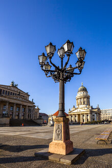 View to French Cathedral and conzert hall at Gendarmenmarkt, Berlin, Germany - PUF01616