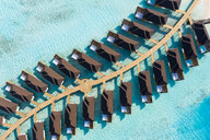 Water bungalows from above, South Male Atoll, Maledives - AMF07107