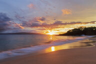 Big Beach at sunset, Makena Beach State Park, Maui, Hawaii, USA - FOF10838