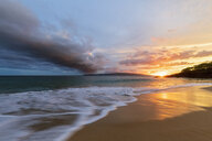Big Beach at sunset, Makena Beach State Park, Maui, Hawaii, USA - FOF10847