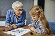 Serbia, Novi Sad, Grandmother, Granddaughter, Coloring book - ZEDF02352