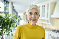 Portrait of a smiling senior woman at home - ZEDF02388