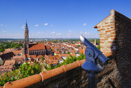 View from Trausnitz castle to old town and basilica St. Martin, Landshut, Bavaria, Germany - SIEF08648