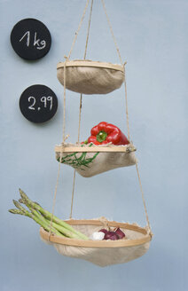 Upcycled embroidery frame and rice bags - GISF00429