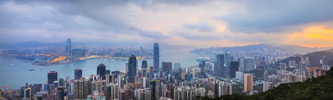Hong Kong Central skyline and Victoria Harbour, Hong Kong, China - HSIF00653