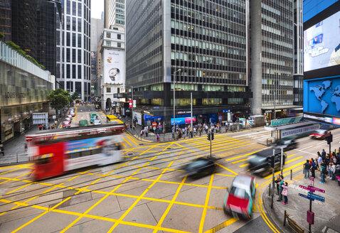 Traffic in Hong Kong Central, Hong Kong, China - HSIF00665
