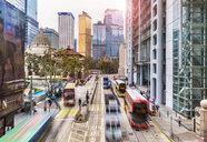 Trams and buses in Hong Kong Central, Hong Kong, China - HSIF00677