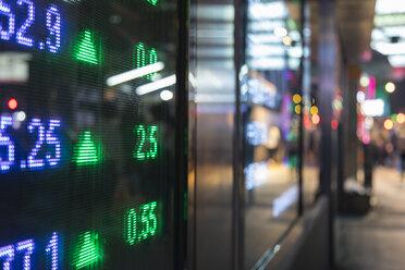Stock Market Display, Hong Kong, China - HSIF00683