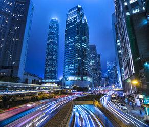 Hong Kong Central IFC at night, Hong Kong, China - HSIF00686