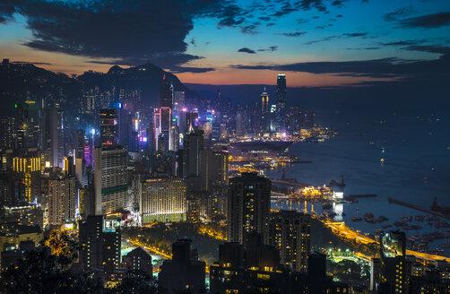 Central Hong Kong skyline, Hong Kong, China - HSIF00689