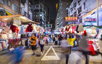 Mong Kok street market at night, Hong Kong, China - HSIF00698