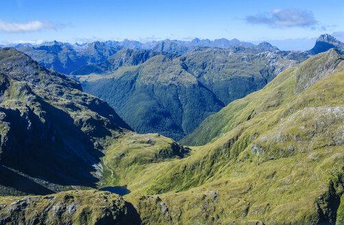 Aerial of Fjordlands, South Island, New Zealand - RUNF02438