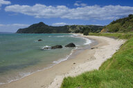 Lonely beach on the coastline of Northern Coromandel, North Island, New Zealand - RUNF02502