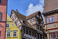 Houses in the old town, Tuebingen, Baden-Wuerttemberg, Germany - MRF02007