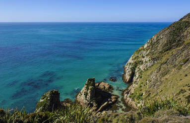 Nugget Point Lighthouse, the Catlins, South Island, New Zealand - RUNF02576