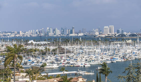 City skyline overlooking harbor, San Diego, California, United States - MINF11980