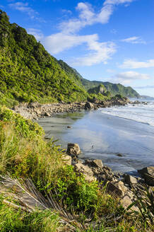The untouched west coast of the South Island between Greymouth and Westport, New Zealand - RUNF02641