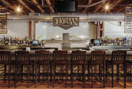 Elysian Brewing sing over bar - MINF12273