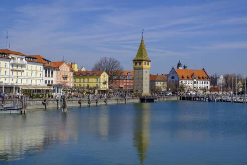 Hafen mit Mangturm, Lindau, Bodensee, Schwaben, Bayern, Deutschland, - LBF02596