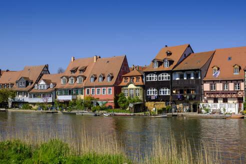 Altstadtviertel Klein Venedig am Ufer der Regnitz, Bamberg, Oberfranken, Franken, Bayern, Deutschland, - LBF02602