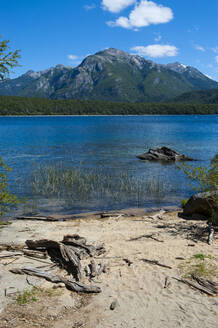 Beautiful mountain lake in the Los Alerces National Park, Chubut, Argentina, South America - RUNF02729