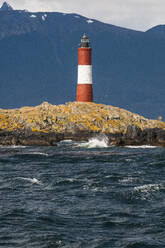 Lighthouse on an Island in the Beagle channel, Ushuaia, Tierra del Fuego, Argentina, South America - RUNF02782