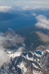 Aerial view of Tierra del Fuego, Argentina, South America - RUNF02788