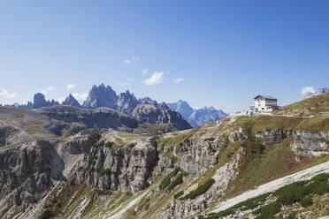 Tre Cime di Lavaredo, Nature Park Tre Cime, Unesco World Heritage Natural Site, Sexten Dolomites, Italy - GWF06107